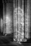 Ely Cathedral, Cambridgeshire, Interior View, the Light Passing Through the Stained Glass Photographic Print by Laurence Goldman