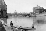 View of Rome and the Tiber (1900) Photographic Print