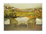 The Terrace at Marquayrol, Le Terrasse de Marquayrol, 1920 Reproduction procédé giclée par Henri Martin