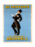 Leonetto Cappiello - Poster Advertising 'Brummel' Clothing for Men at 'Printemps' Department Store, 1936 - Giclee Baskı