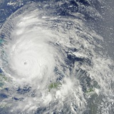 Hurricane Irene over the Bahamas on August 24, 2011 Photographic Print