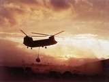 Chinook Helicopter Lifts Ammunition Photographic Print