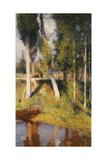 Landscape with the Edge of a River, Paysage au Bord de la Riviere Reproduction procédé giclée par Henri Martin