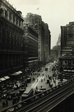 View of Elevated Train at Herald Square Photographic Print