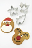 Christmas Cookies and Cookie Cutters Photographic Print