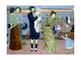 Parisians at the Seaside, 1899 Giclee Print by Maurice Denis