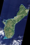Satellite View of Guam Photographic Print
