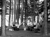 The Family Has Picnic Among the Pines, Ca. 1900 Photographic Print