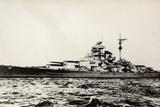 The German Battleship Bismarck of the German Kriegsmarine During Early World War II Fotodruck