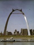 St Louis Arch Undergoing Construction Photographic Print