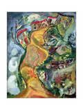 The Road to Cagnes, 1924 Gicleetryck av Chaim Soutine