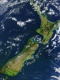 Satellite View of New Zealand Photographic Print