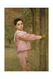 Portrait of a Boy in a Pink Sailor Suit Reproduction procédé giclée par Jacques-emile Blanche