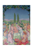 In the Presence of the Gods, Jupiter Grants Immortality to Psyche and Celebrates Her Marriage Reproduction procédé giclée par Maurice Denis