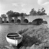 Wansford Old Bridge, Wansford, Cambridgeshire, View of the Wansford Old Bridge Photographic Print by Eric De Mere