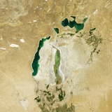 Satellite View of the Aral Sea in 2012 Photographic Print