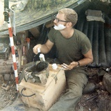 Snapshot of Us Soldier in Vietnam, Ca. 1970 Photographic Print