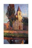 The Church at Labastide du Vert, L'Eglisede La Bastide du Vert Reproduction procédé giclée par Henri Martin