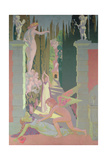 The Vengeance of Venus: Psyche, Opening the Box of Dreams in the Underworld, Sinks into Sleep, 1908 Reproduction procédé giclée par Maurice Denis