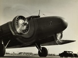 View of Airplane Nose with Propellers Spinning Photographic Print