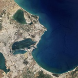 Satellite Image of Carthage, Tunisia Photographic Print