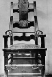 View of Empty Electric Chair Photographic Print