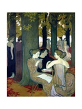The Muses, 1893 Reproduction procédé giclée par Maurice Denis