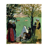 The Sacred Spring in Guidel, C. 1905 Giclee Print by Maurice Denis