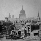 St Paul's Cathedral, City of London, St Pauls, Viewed from Bull Wharf on the River Frontage Photographic Print