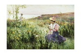 Gathering Wild Flowers Giclee Print by Alfred Augustus Glendening II