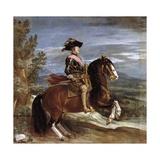 Equestrian Portrait of Philip IV Gicléedruk van Diego Velázquez
