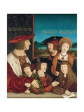 Emperor Maximilian I with His Family Giclee Print by Bernhard Strigel
