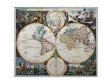Orbis Terrarum Nova Et Accuratissima Tabula Giclee Print by Nicholas Visscher