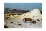 Lioness and Lion Cubs Giclee Print by Jean-Leon Gerome