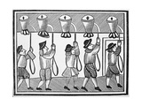 17th Century Woodcut of the Ringing of Bells in a Steeple Giclee Print