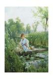 Waterlillies Giclee Print by Alfred Augustus Glendening II