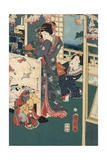 Flower Performance Giclee Print by Toyohara Kunichika