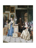 At the Art Dealer's Shop Giclee Print by Jean Carolus