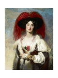 Julia, Lady Peel Giclée-tryk af Thomas Lawrence