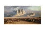 Mt. Sinai, Egypt Giclee Print by Edward Lear