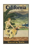 California This Summer Travel by Train Giclee Print
