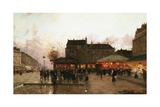 Paris by Night (France) Giclee Print by Luigi Loir