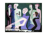 Singer on Piano (Pianist) Reproduction procédé giclée par Ernst Ludwig Kirchner