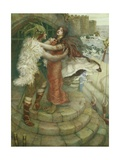 Tristram's Farewell to Iseult Giclee Print by William Stott
