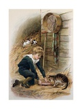 The Thirsty Kitten Giclee Print by Alice Havers