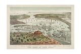 The Port of New York - Birds Eye View from the Battery, Looking South Giclee Print by  Currier & Ives