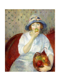 Girl with Green Apple Giclee Print by William James Glackens