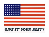 Give it Your Best! Poster Giclee Print by Charles Coiner