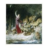 Aphrodite Giclée-tryk af Briton Rivière
