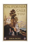 California Calls You, Union Pacific Travel Poster Giclee Print